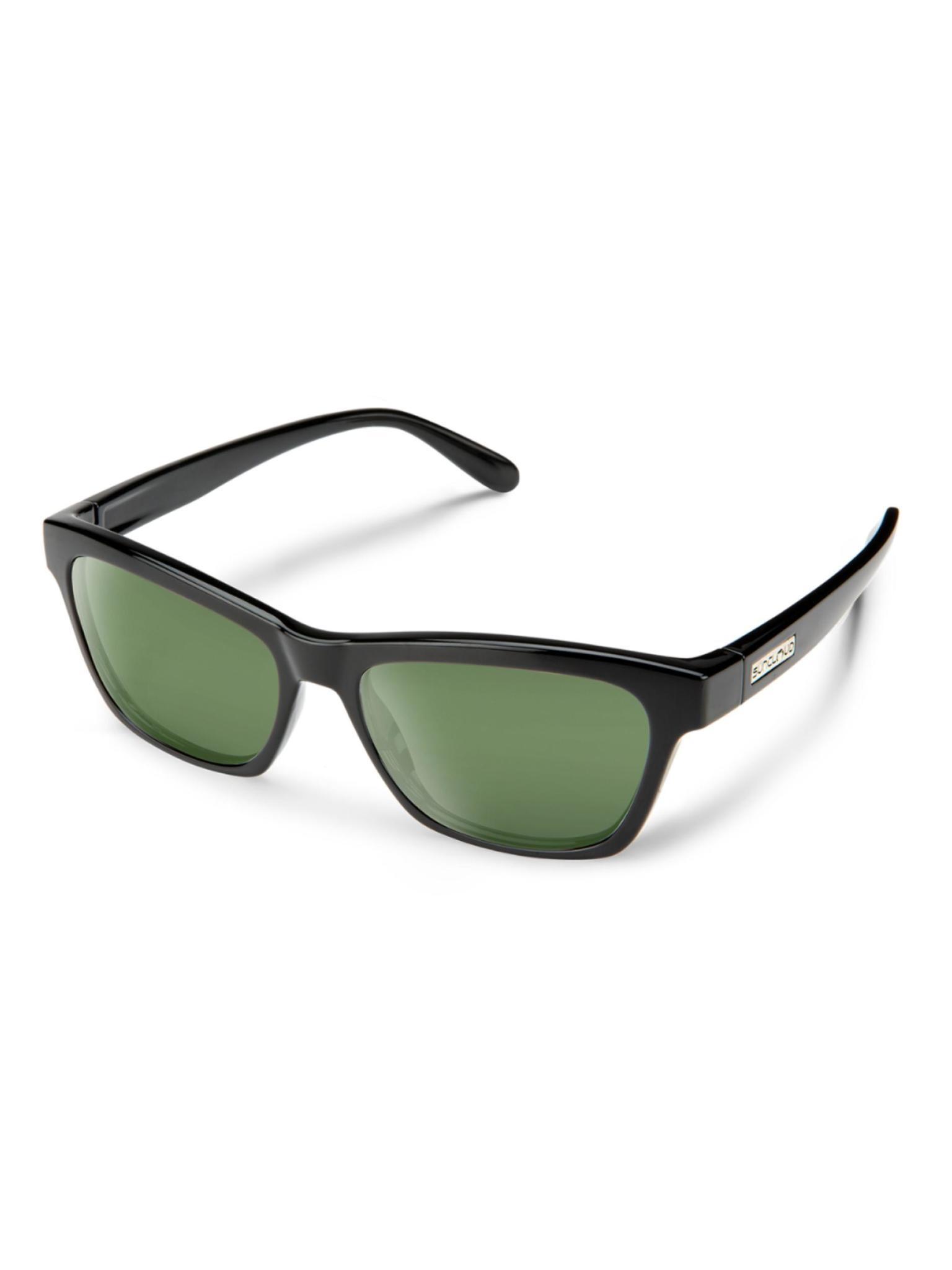 Quest Black Polarized Gray Green