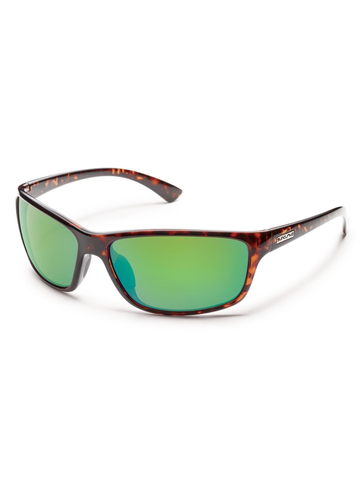 Sentry Sunglasses Tortoise Polarized Green Mirror