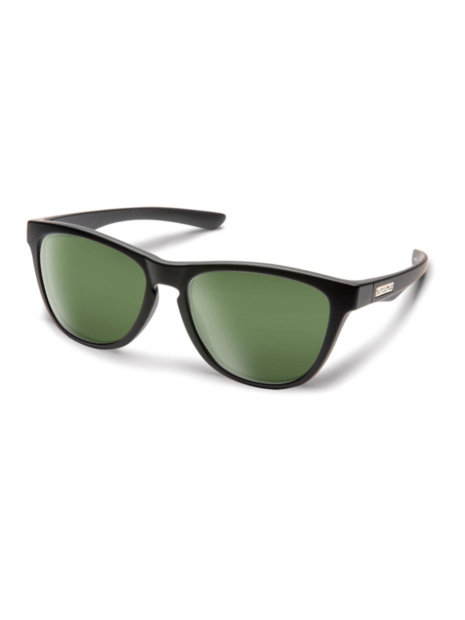 Topsail Matte Black Polarized Gray Green
