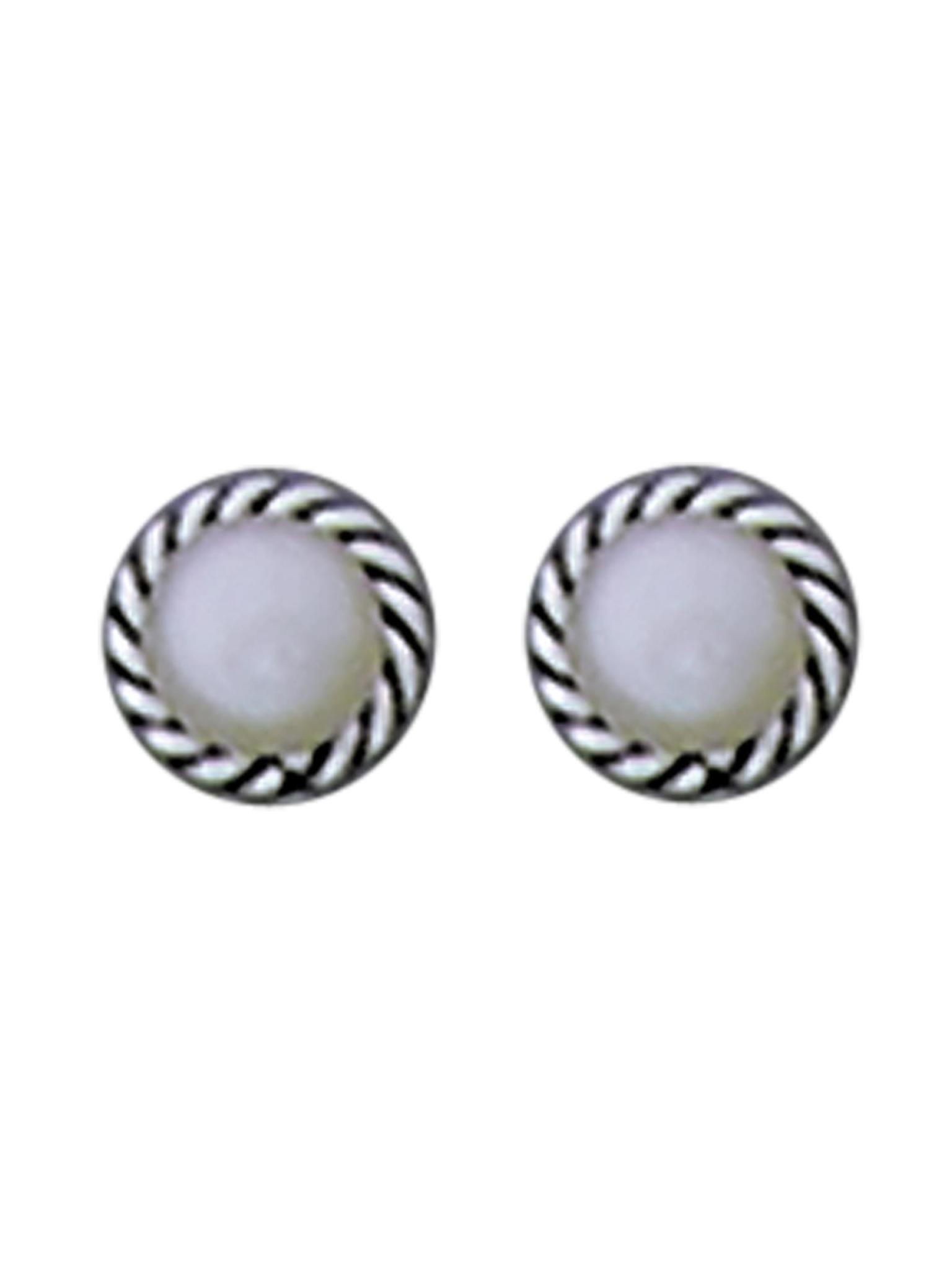 Acomo Jewelry Pearl Set in Rope Stud Earring