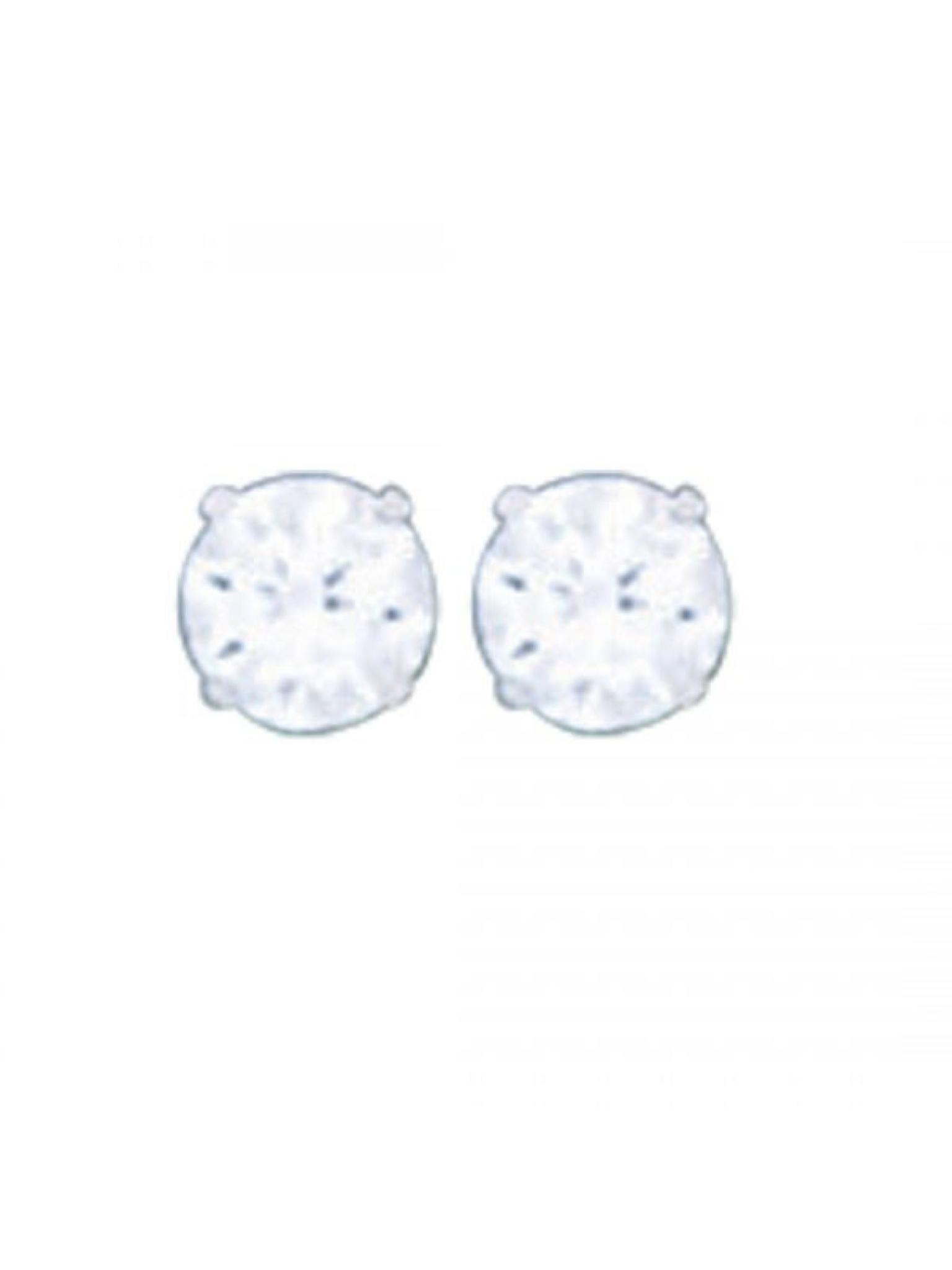 Acomo Jewelry 4mm Round Cubic Zirconium Stud Earring