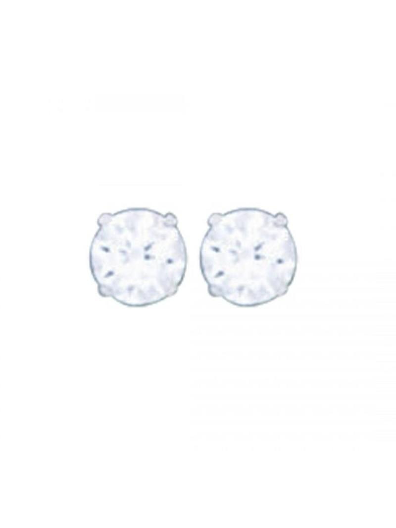 Acomo Jewelry 3mm Round Cubic Zirconium Stud Earring