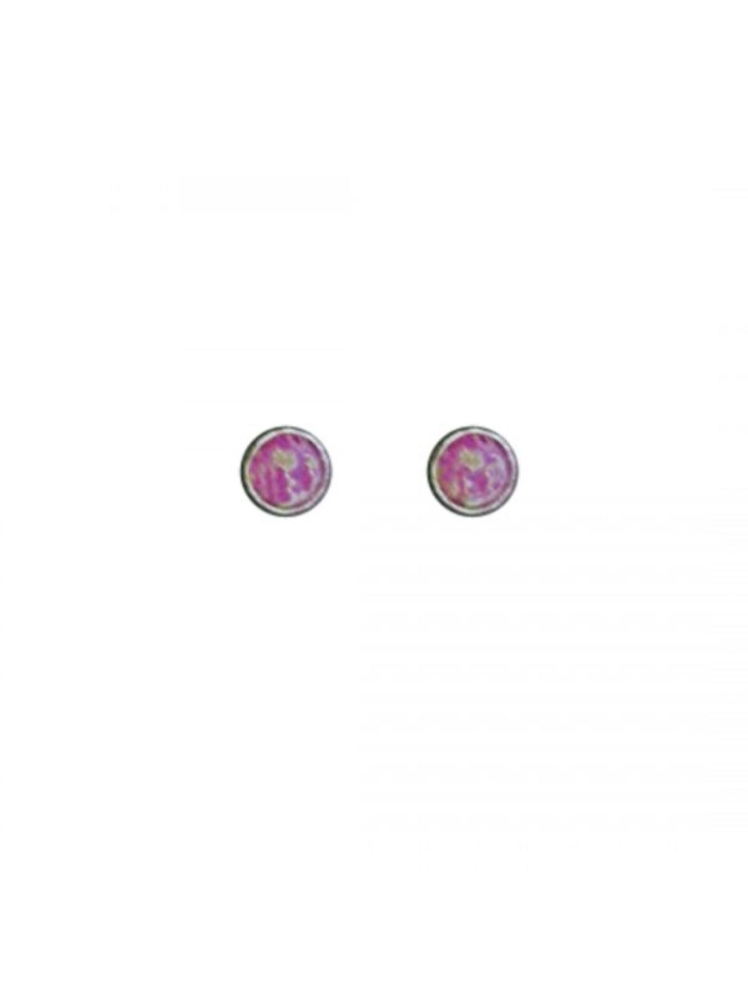 Acomo Jewelry 3mm Opal Stud Earring Opal