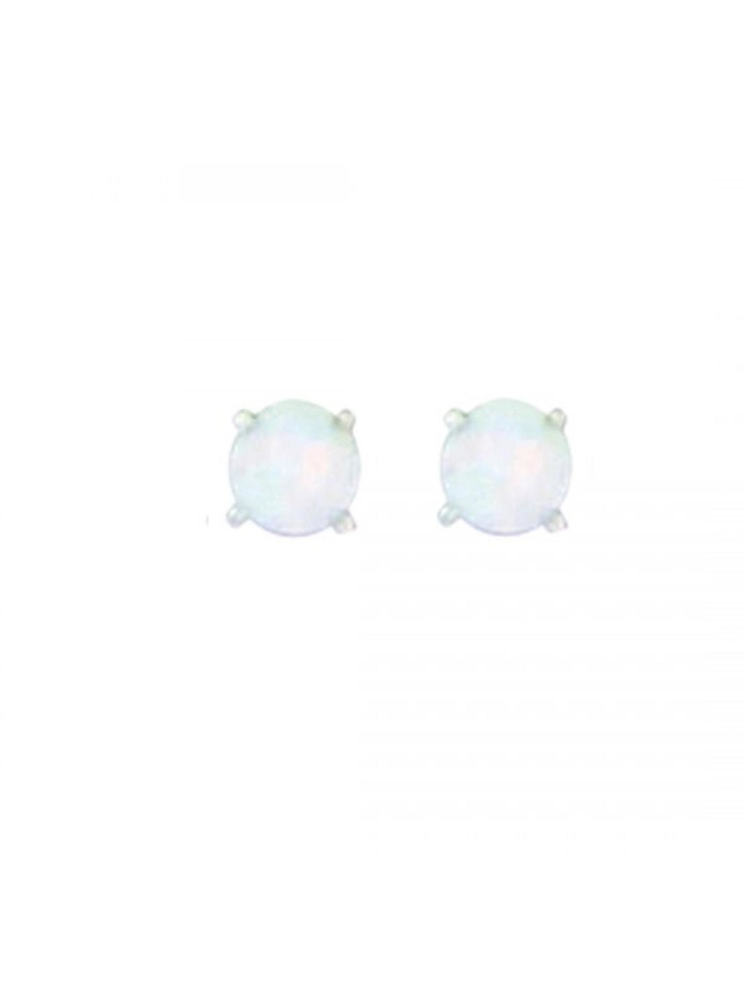 Acomo Jewelry 4mm Synthetic Opal with Prongs Stud Earring Opal