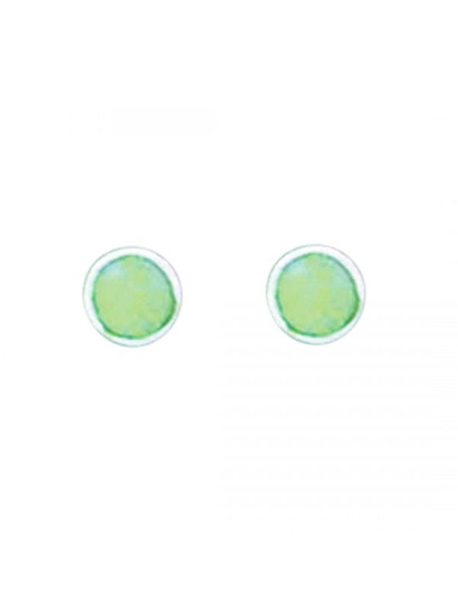 Acomo Jewelry 5mm Round Opal Inlay Stud Earring Opal