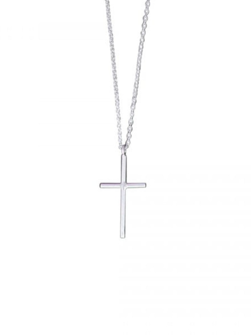 """Acomo Jewelry Cross Sterling Silver 16"""" Necklace"""