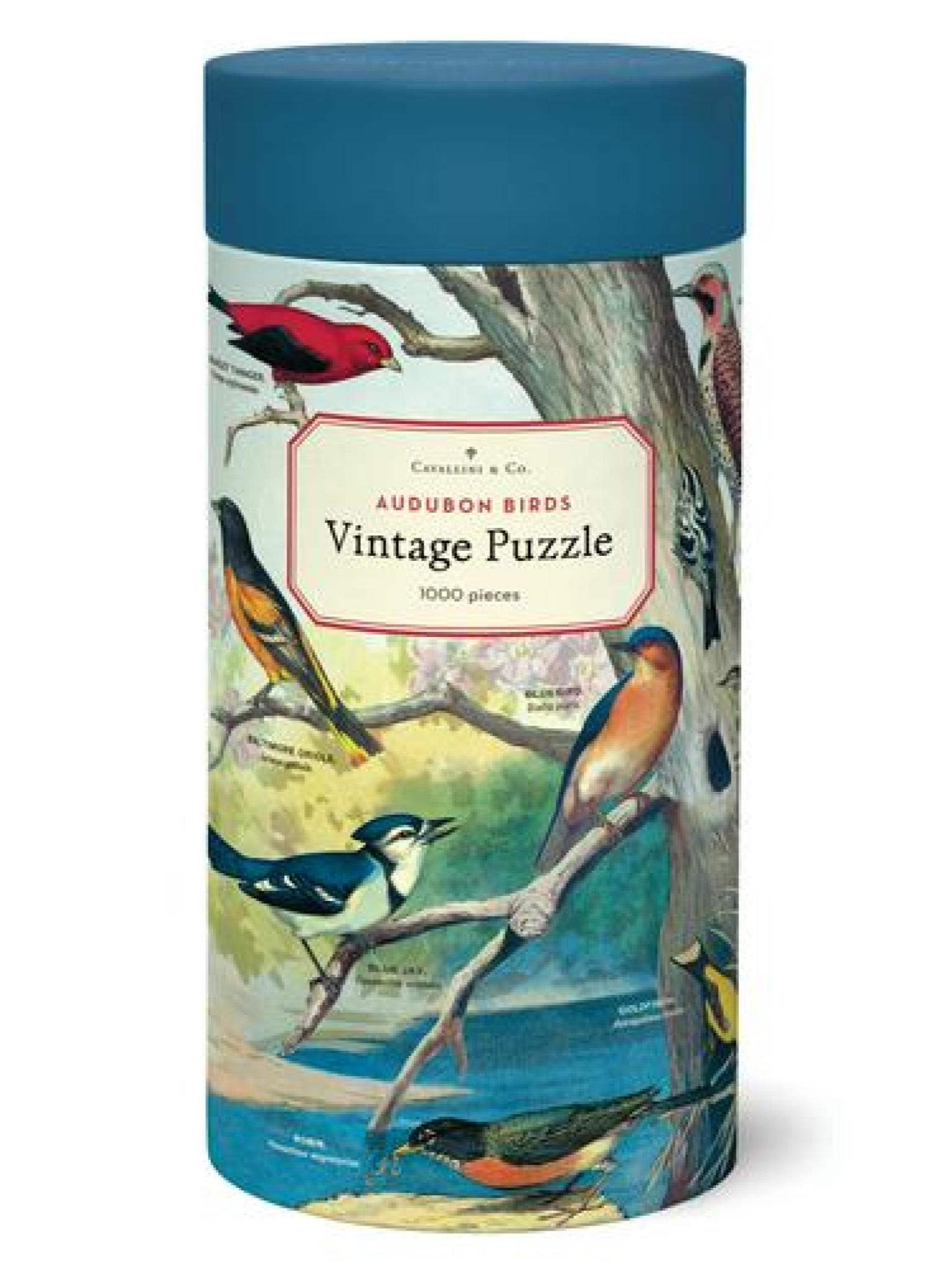 Cavallini Vintage 1000 Piece Puzzle Audubon Birds