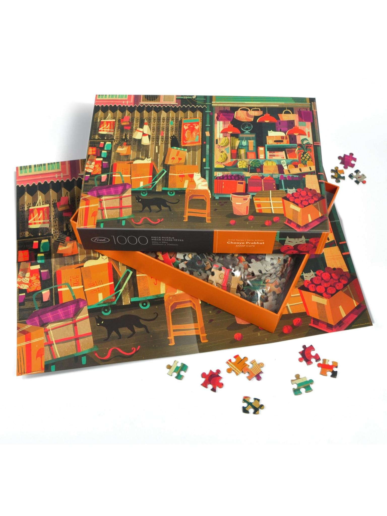 Fred Shop Cats 1000 Piece Puzzle