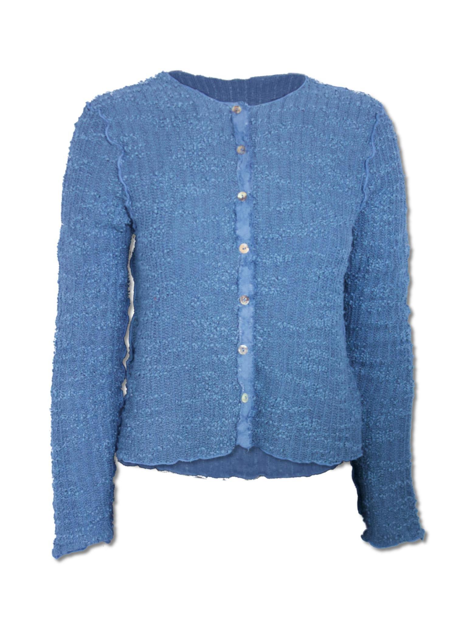 Cut Loose Crop Cardigan-Texture Sweater