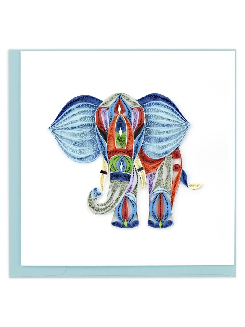 Quilling Card Abstract Elephant