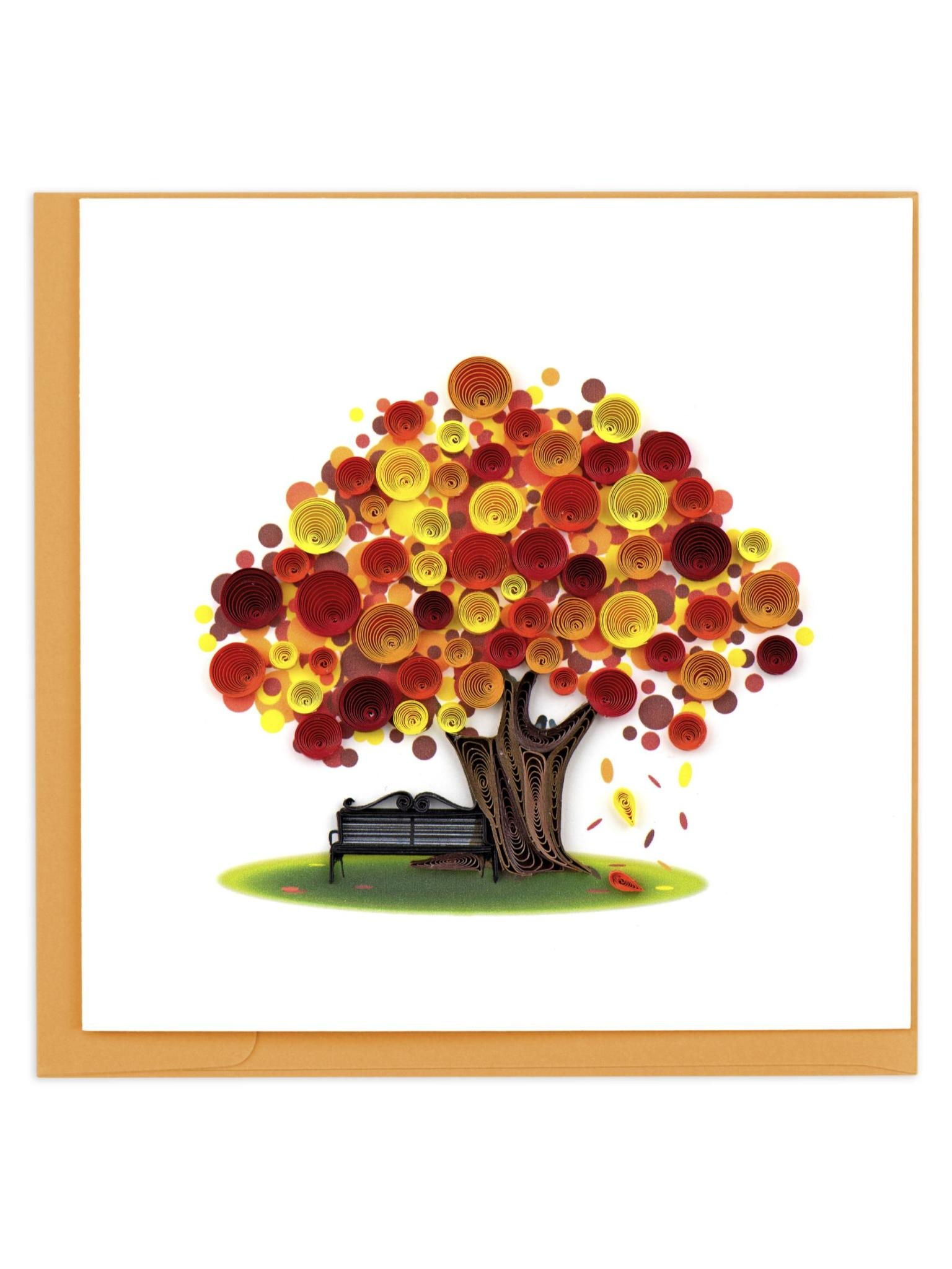 Quilling Card Autumn Tree