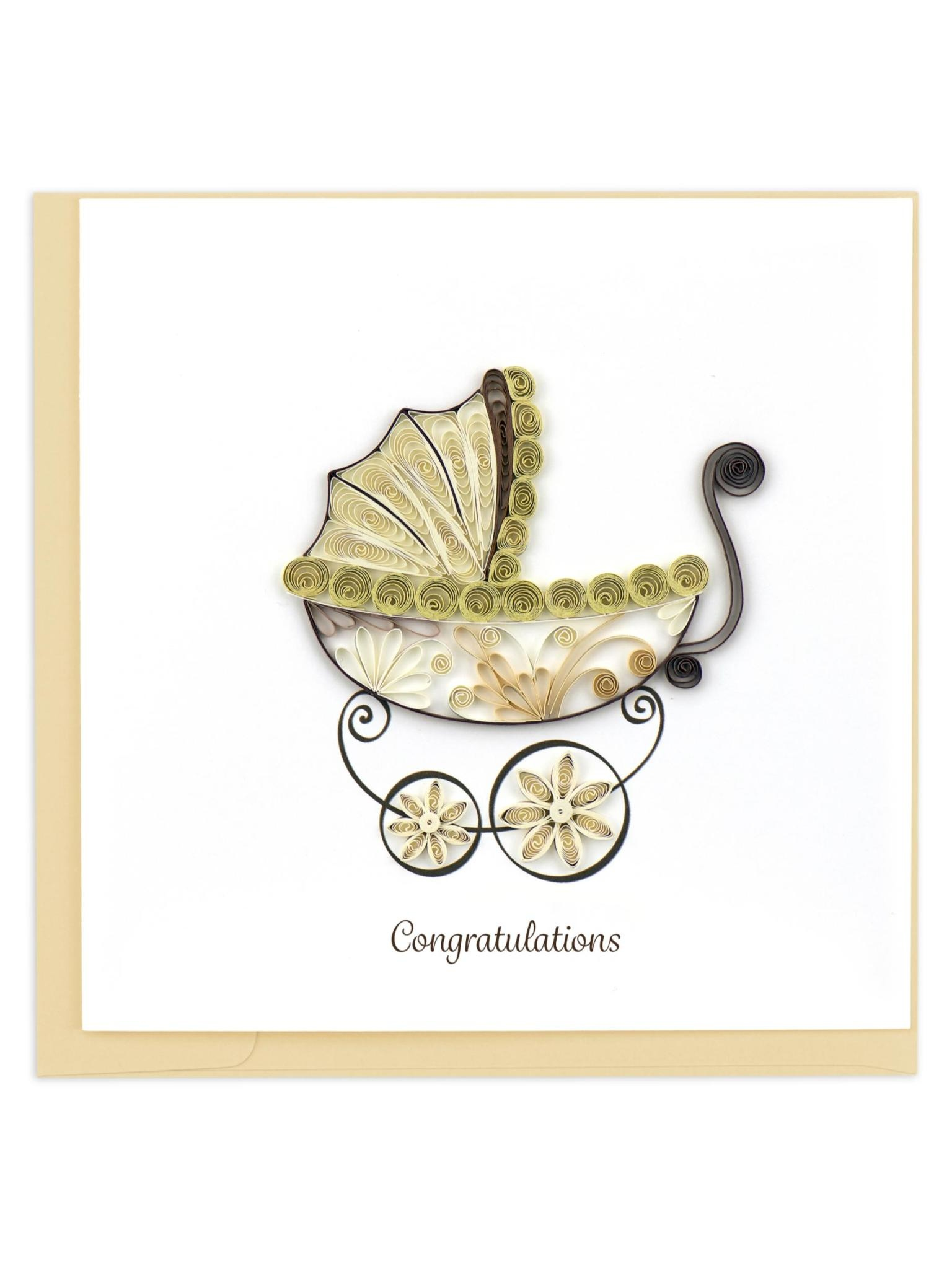 Quilling Card Baby Carriage