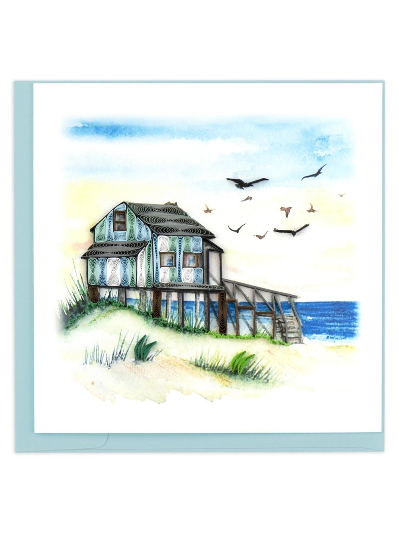 Quilling Card Beach House