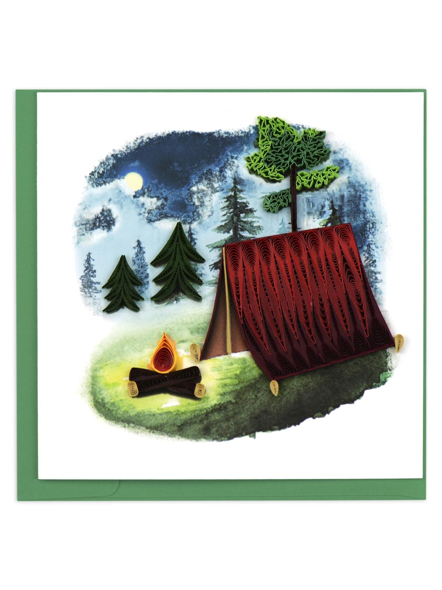 Quilling Card Camping