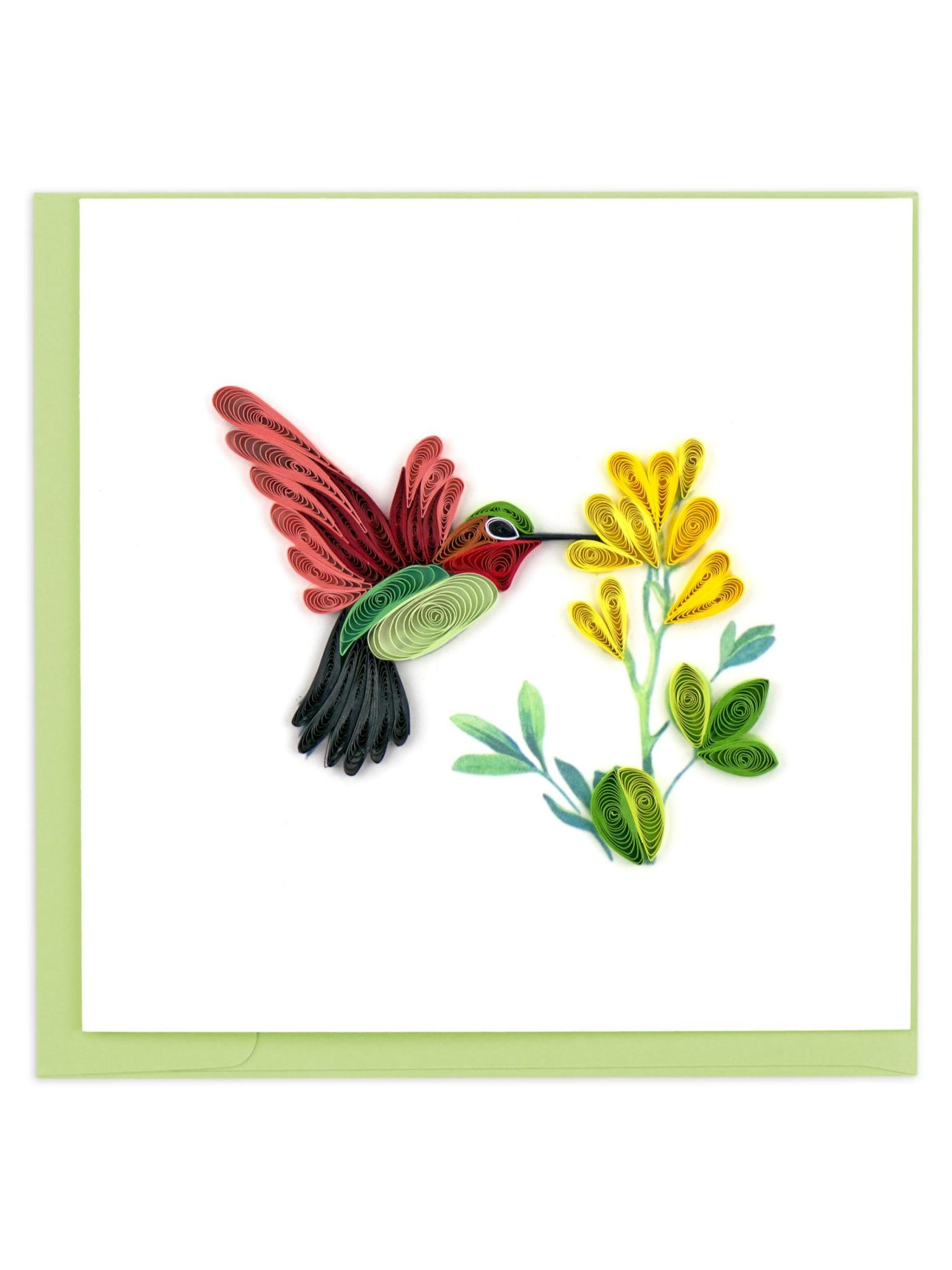 Quilling Card Hummingbird