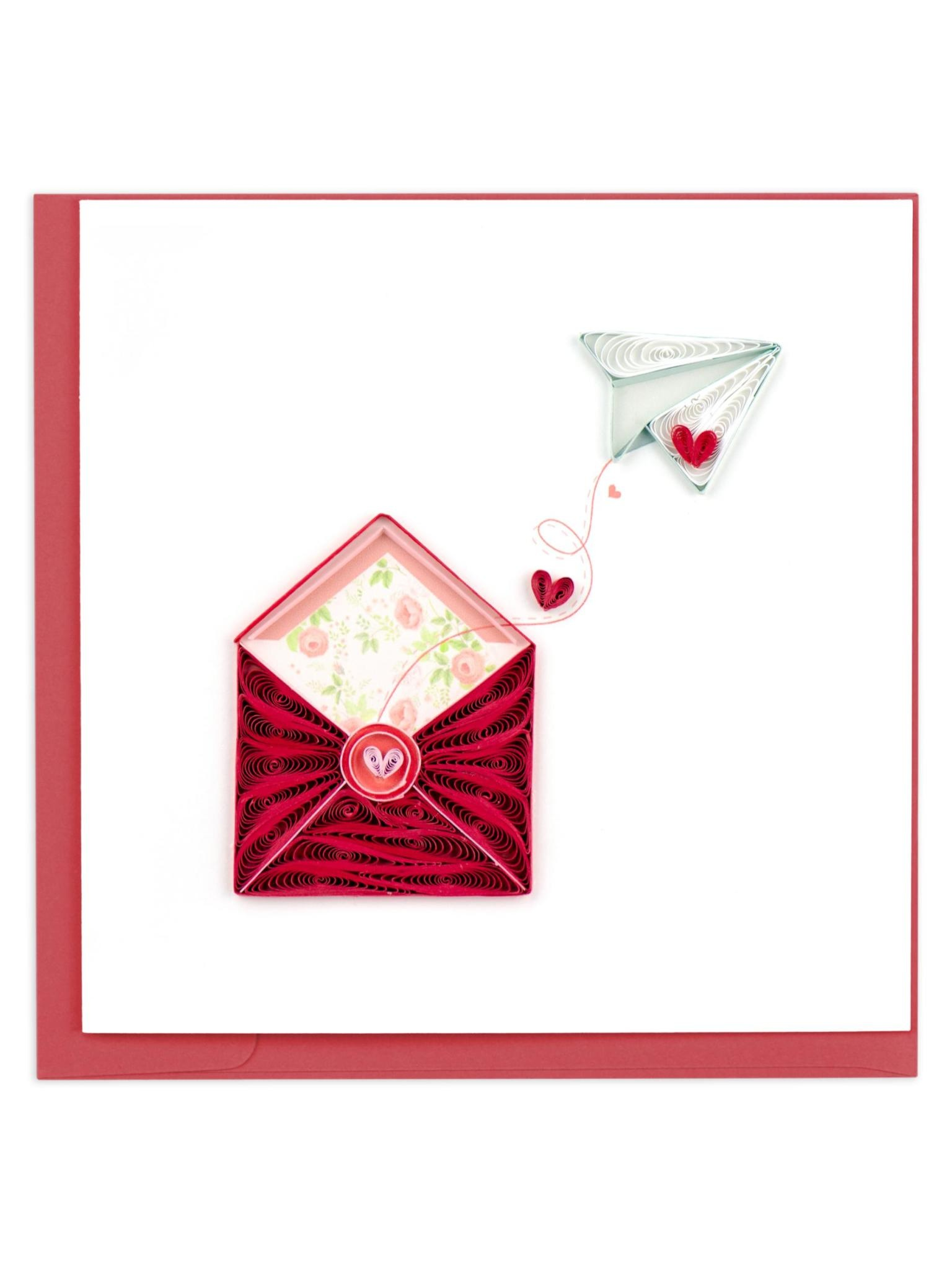 Quilling Card Love Letter