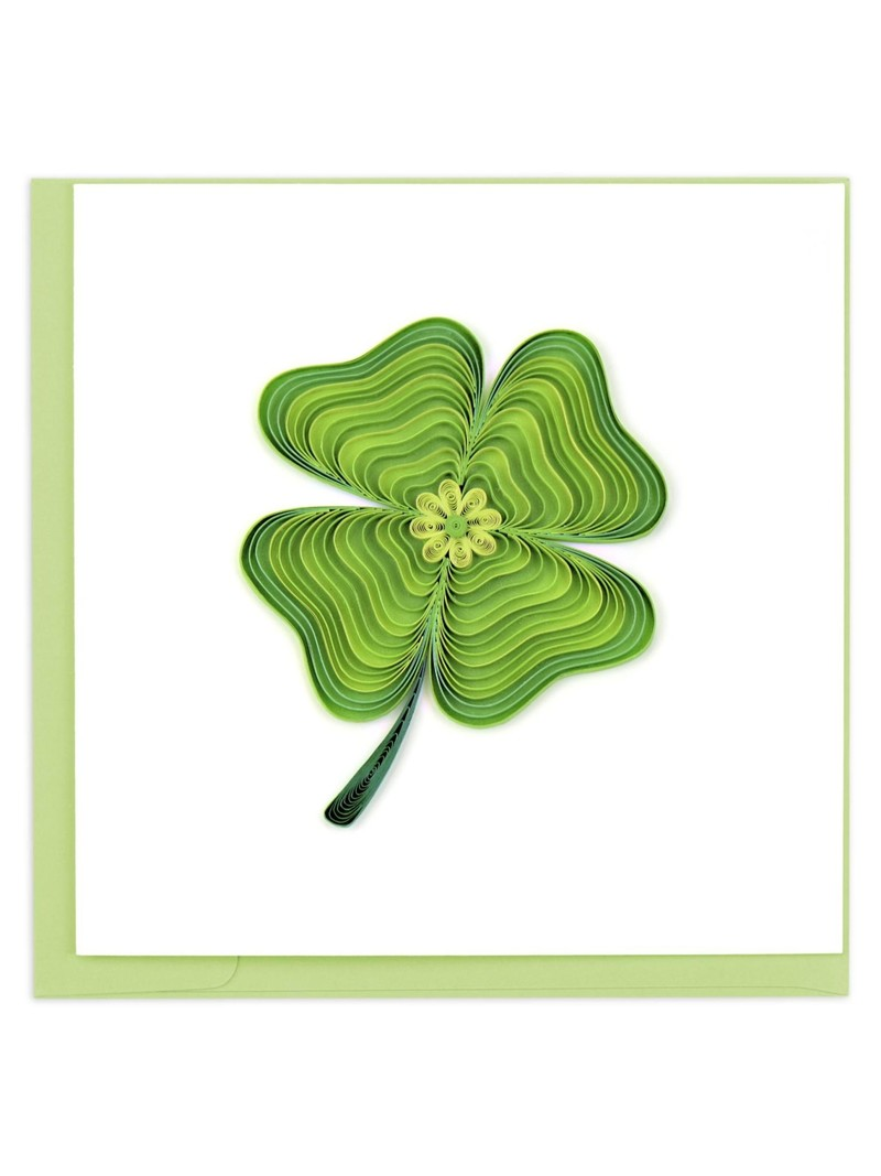 Quilling Card Lucky Clover