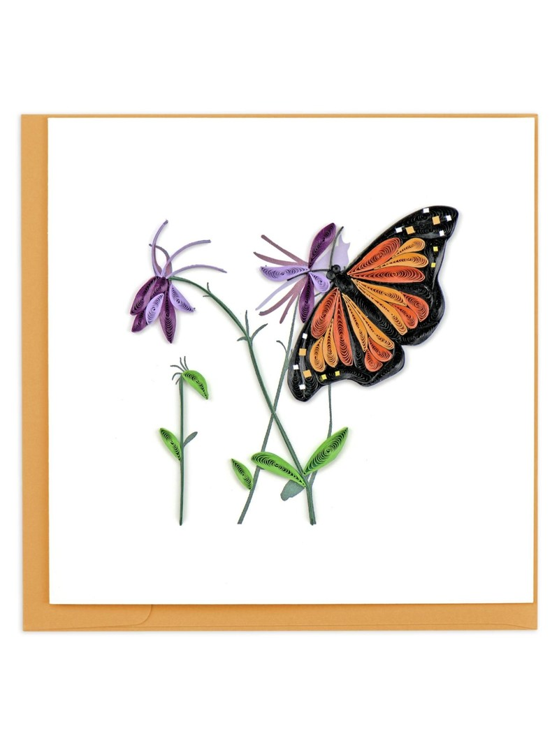 Quilling Card Monarch Butterfly
