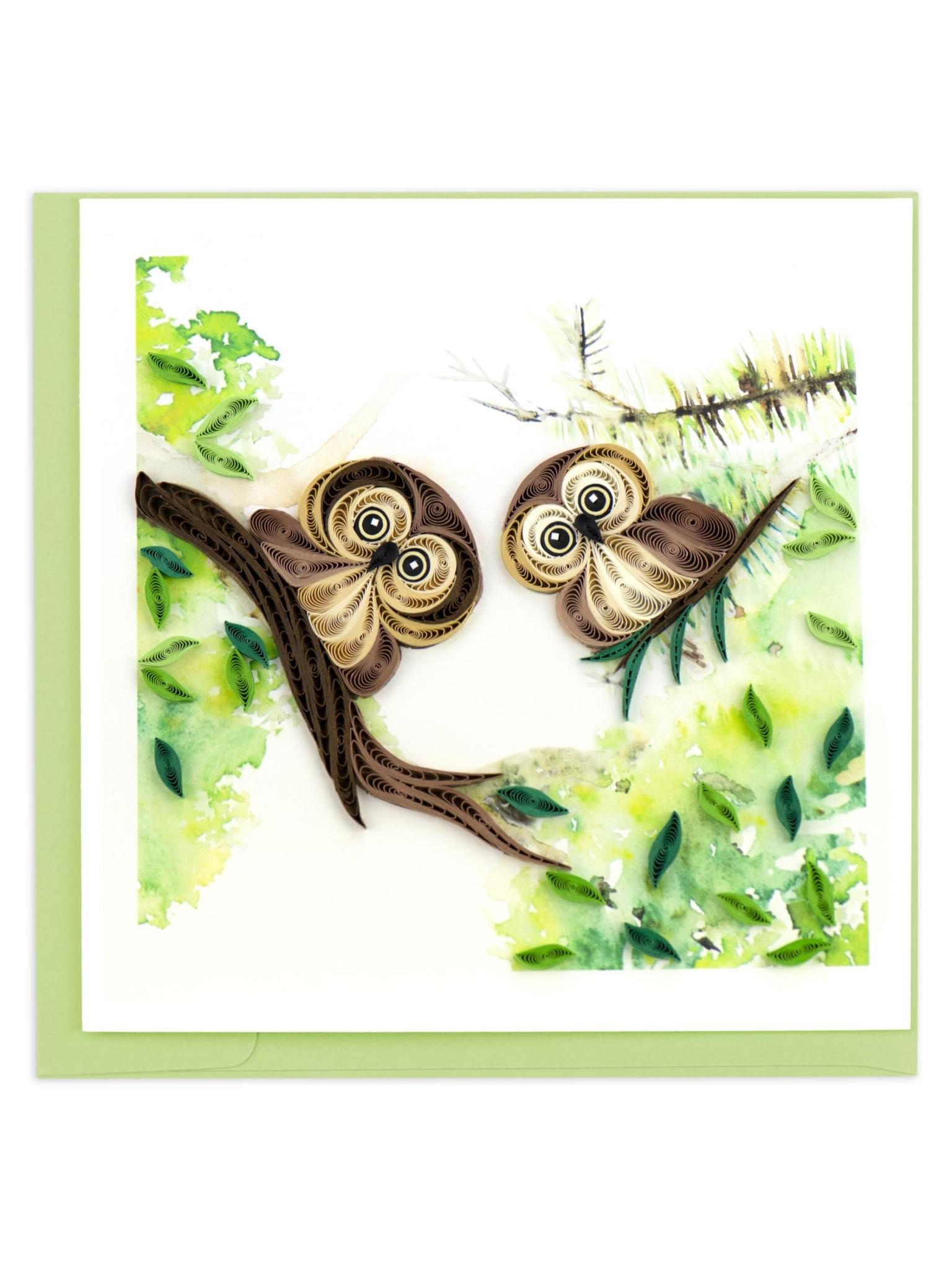 Quilling Card Owlets