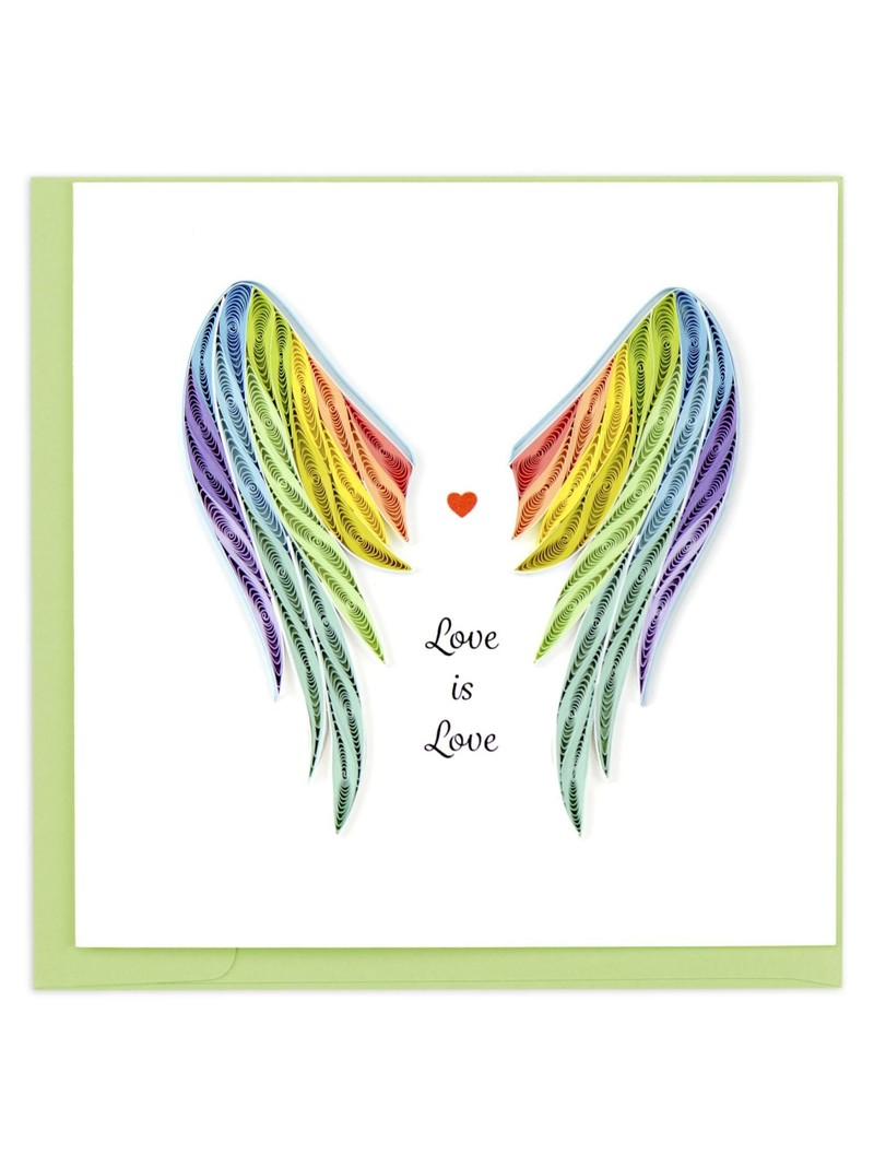 Quilling Card Pride Wings