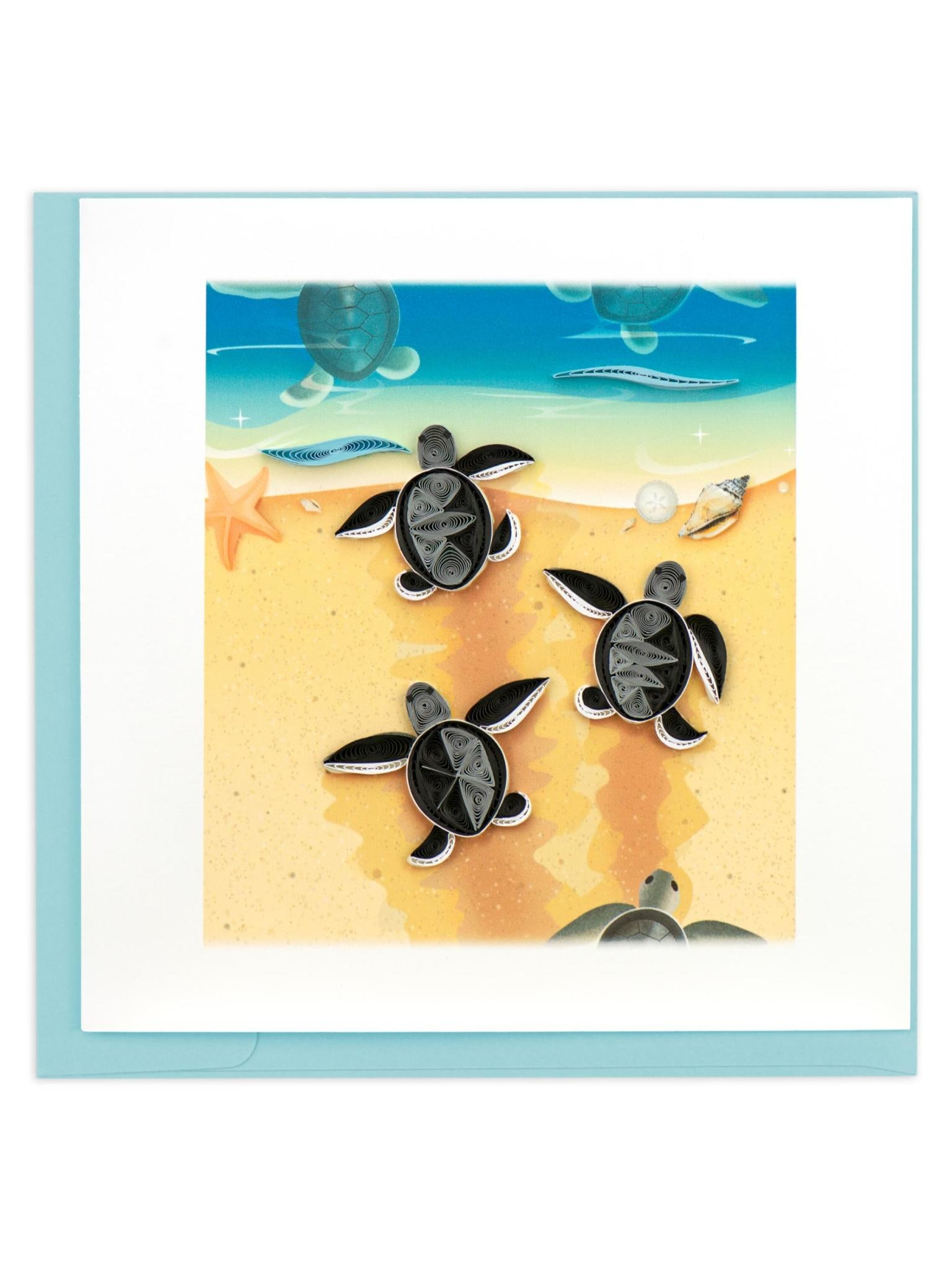 Quilling Card Sea Turtle Hatchlings