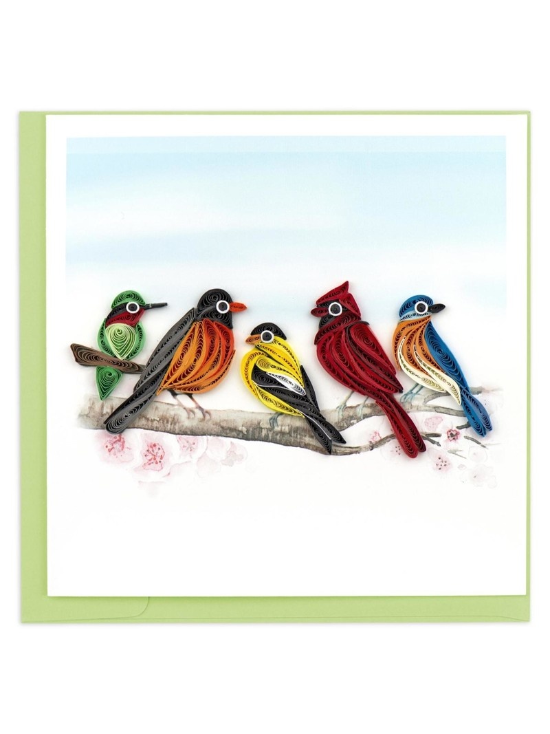 Quilling Card Songbirds