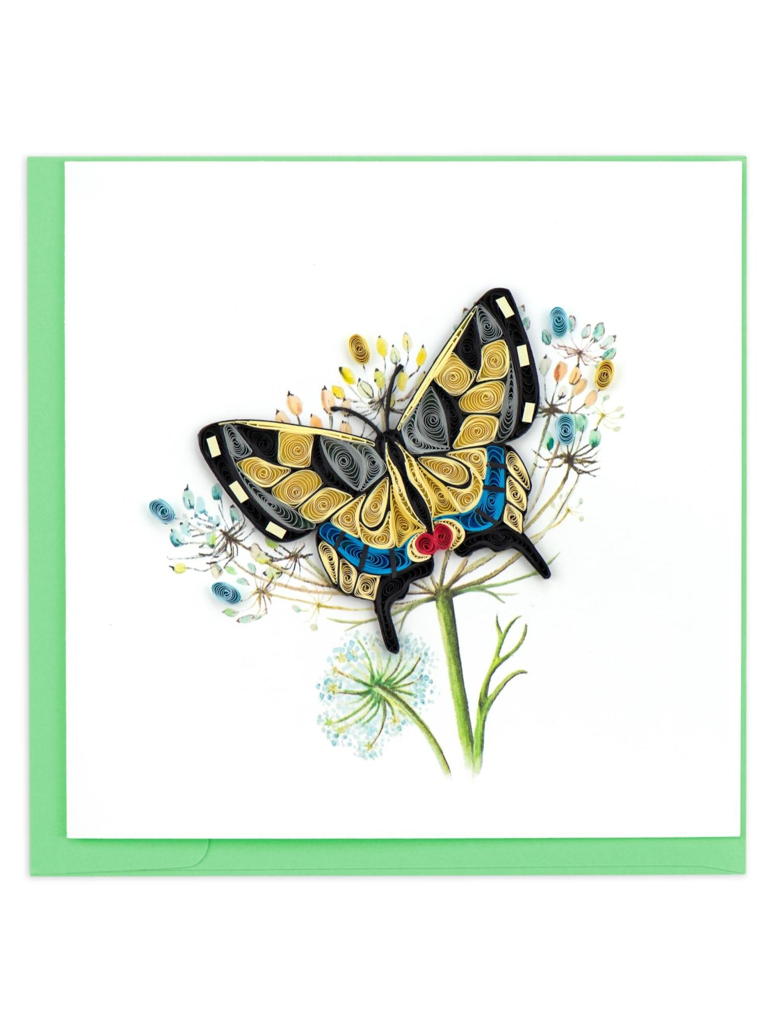 Quilling Card Swallowtail Butterfly