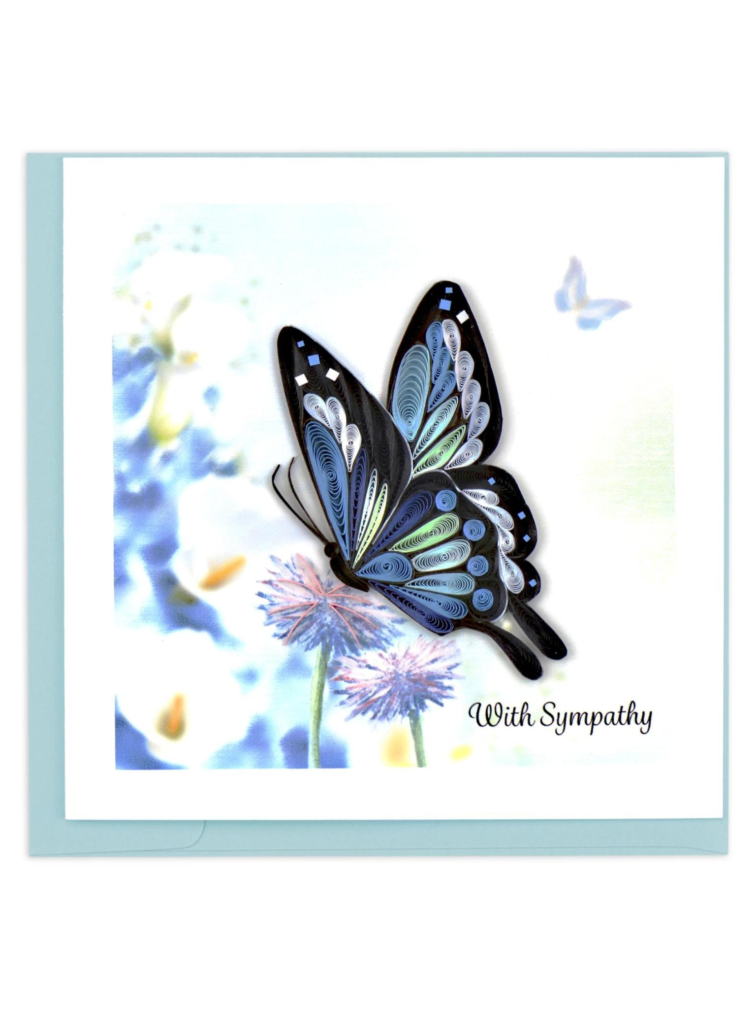 Quilling Card Sympathy Butterfly