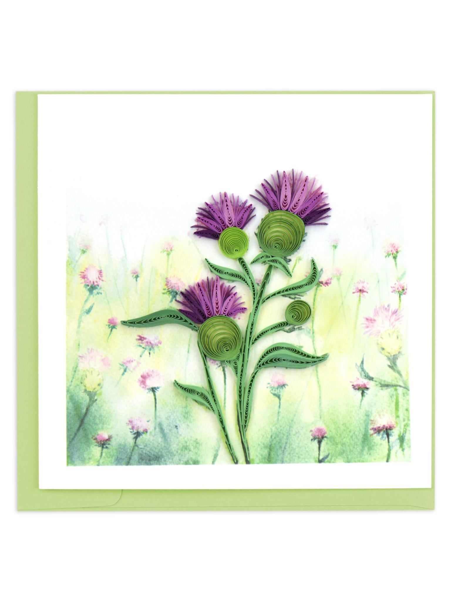 Quilling Card Thistle
