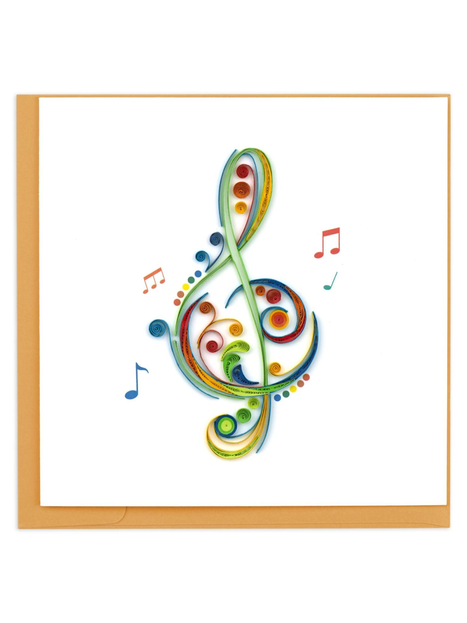 Quilling Card Treble Clef