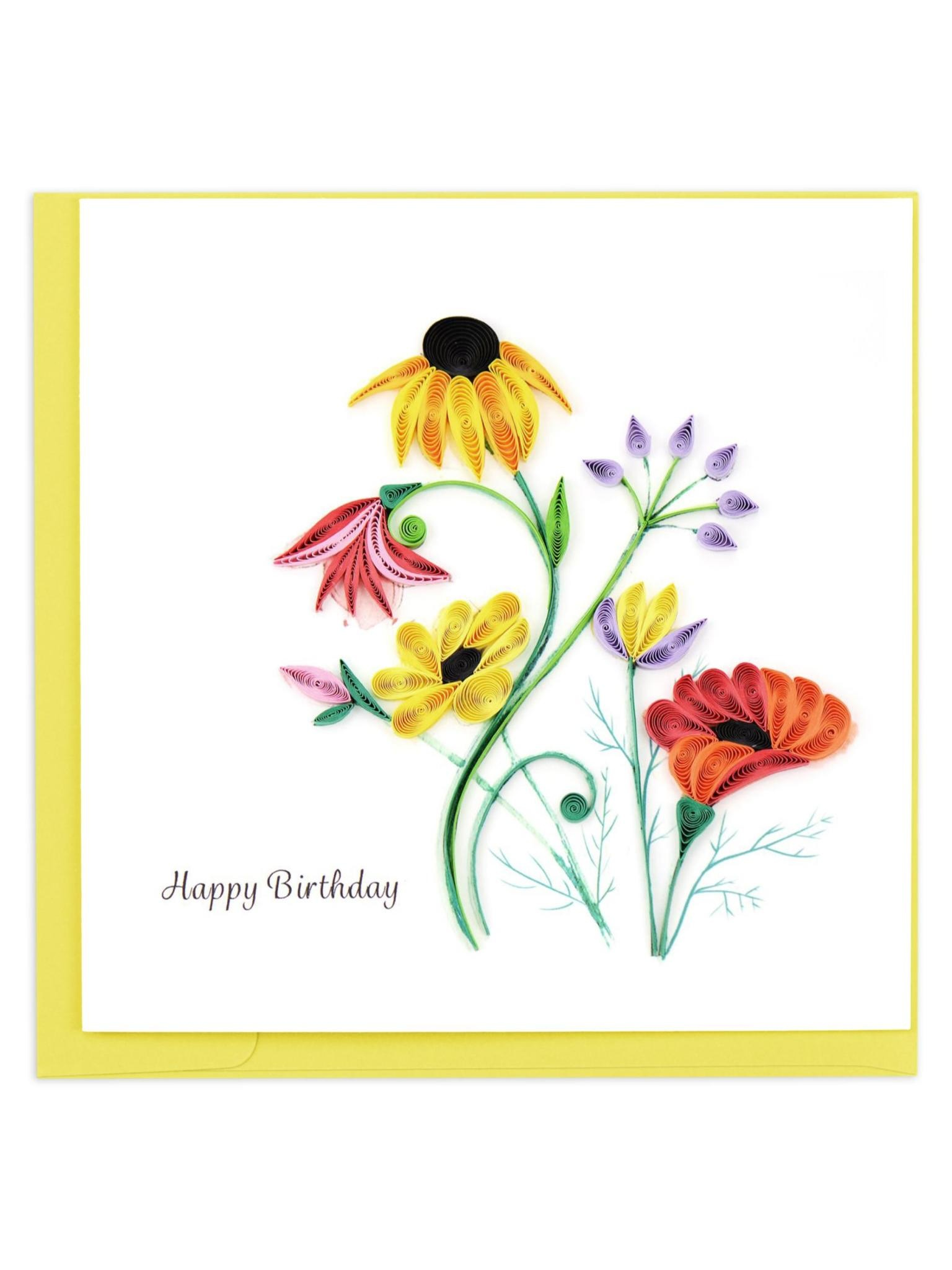 Quilling Card Wildflower Birthday Blooms