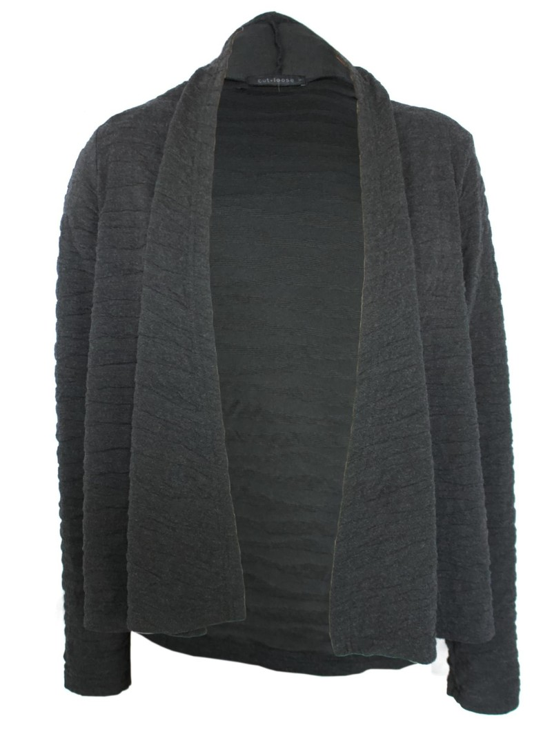 Cut Loose Textured Draped Cardigan