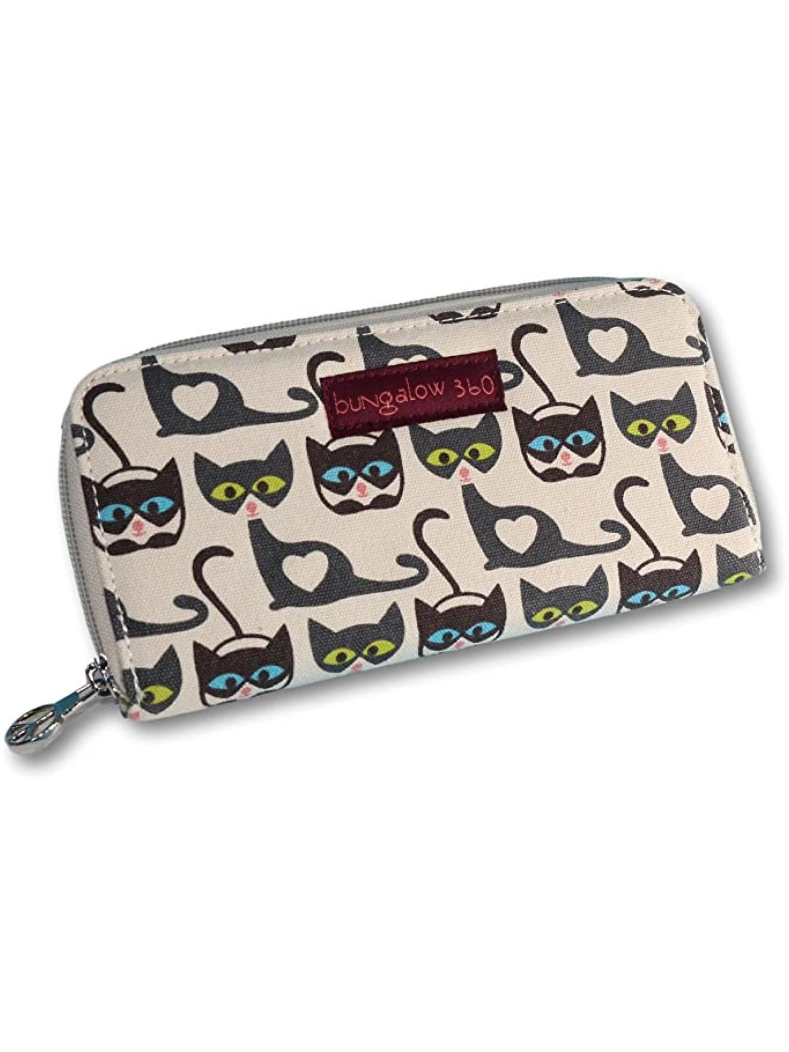 Bungalow 360 Zip Around Wallet Cat
