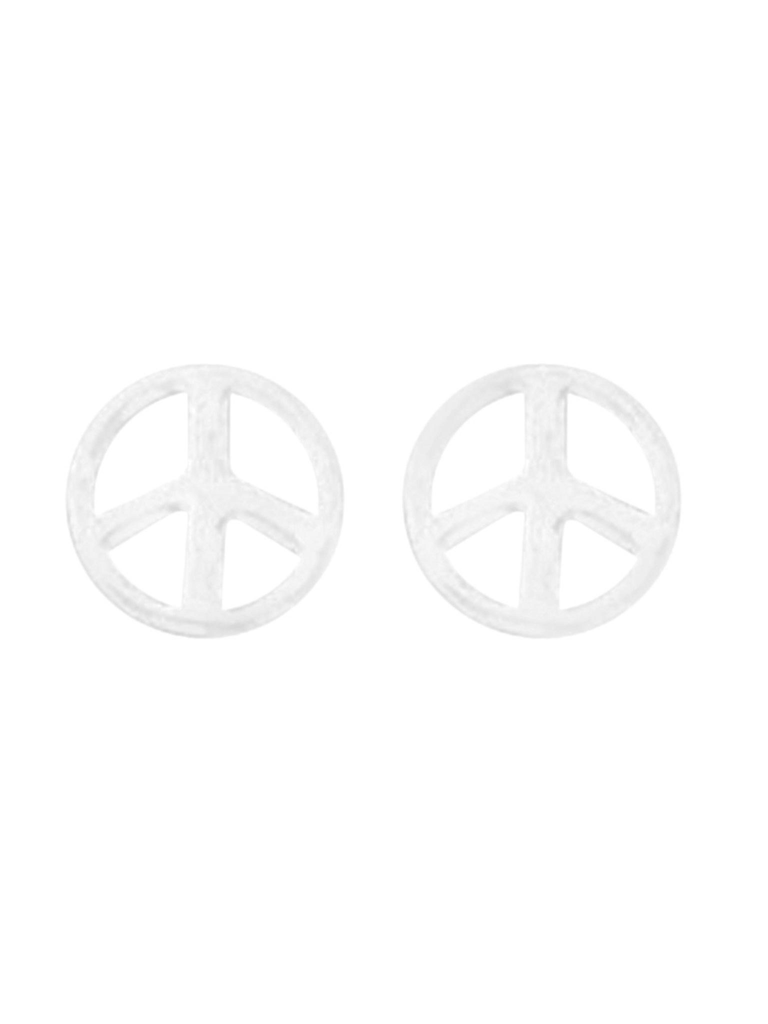 Acomo Jewelry Peace Sign Stud Earring