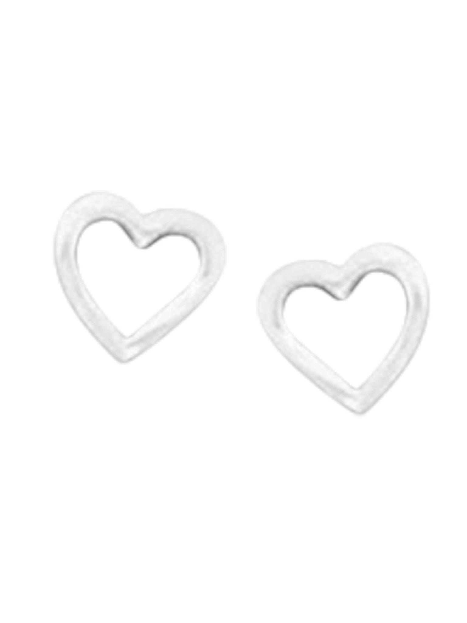 Acomo Jewelry Heart Outline Stud Earring