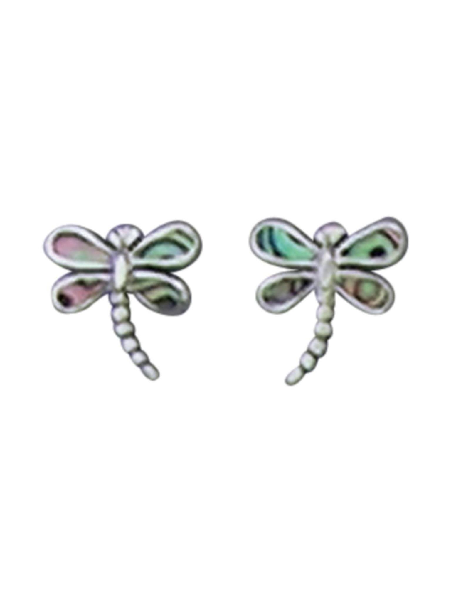 Acomo Jewelry Abalone Dragonfly Ear Stud