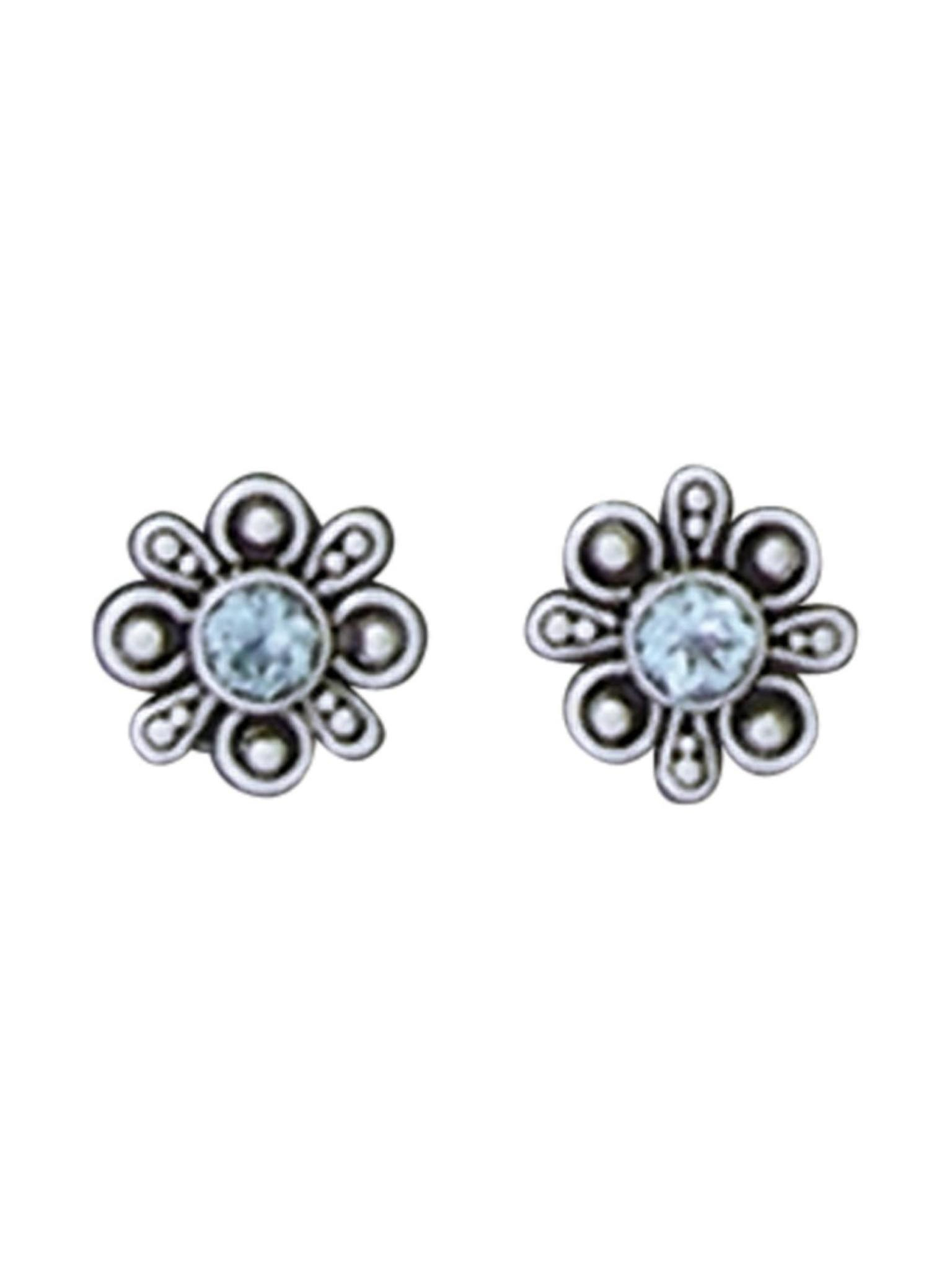 Acomo Jewelry Sky Blue Topaz in Frame Stud Earring
