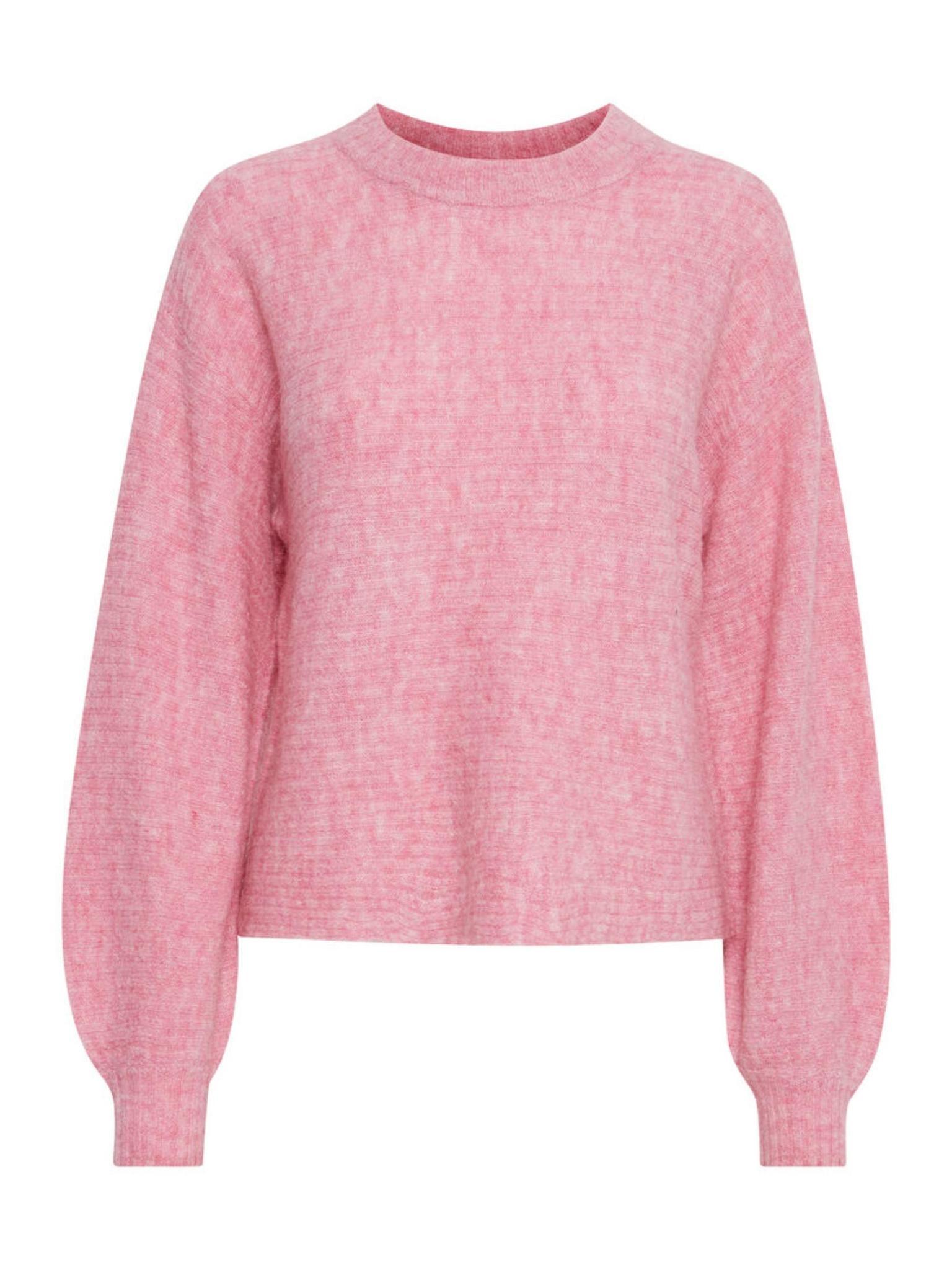 ICHI Amara Ribbed Short Sweater