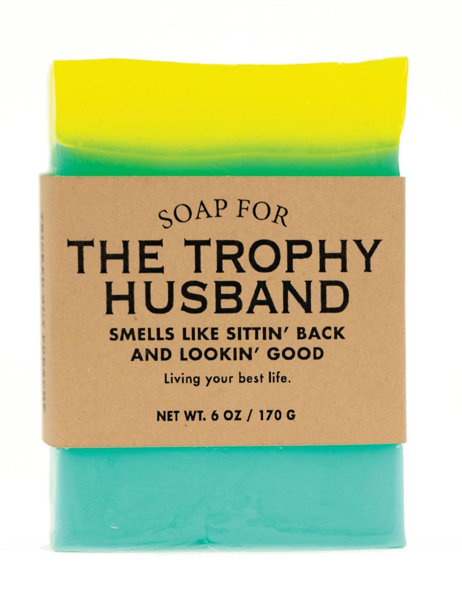 Whiskey River Soap Co. Trophy Husbands Soap 6 oz