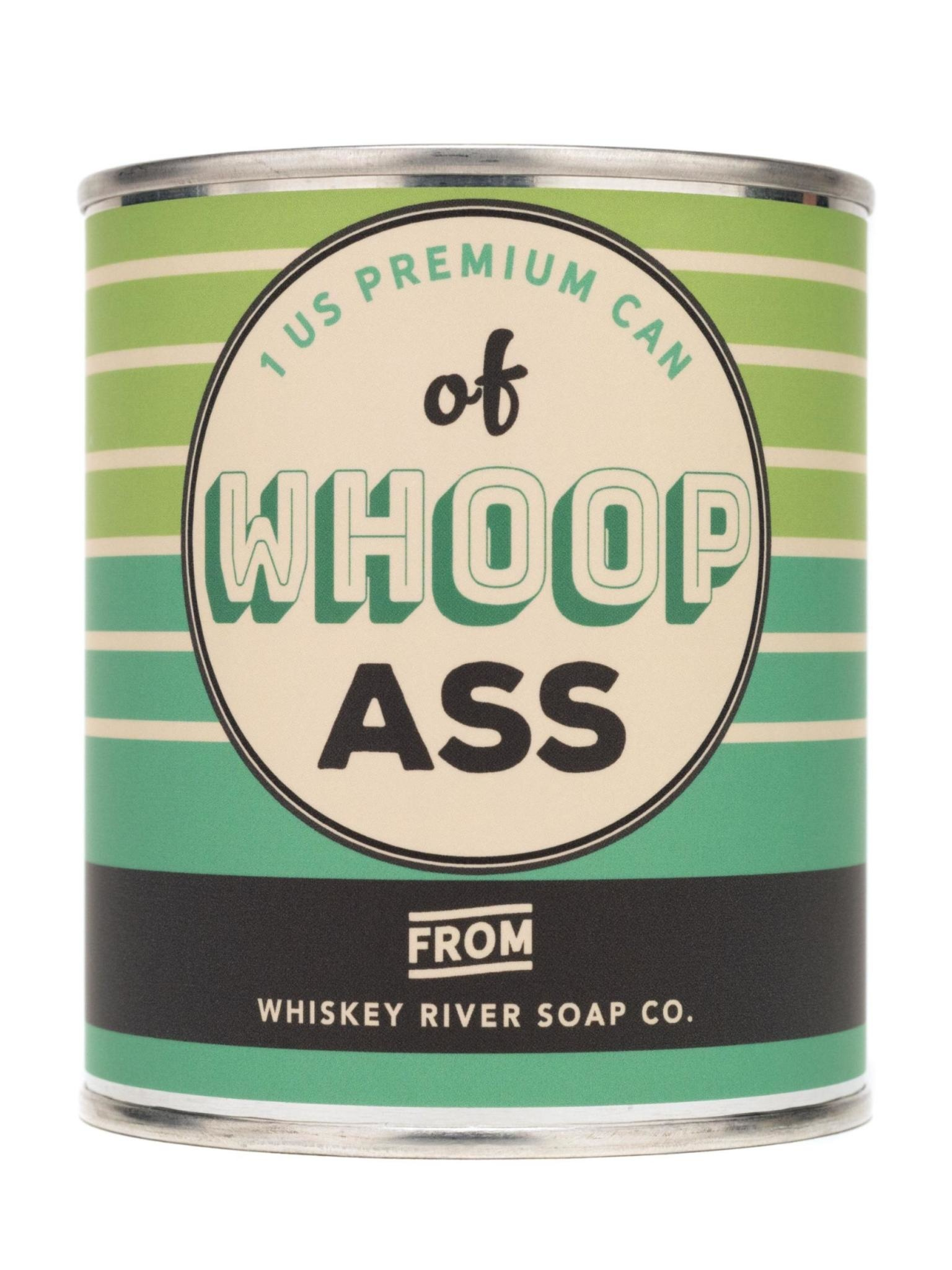Whiskey River Soap Co. Whoop Ass Vintage Paint Can Candle