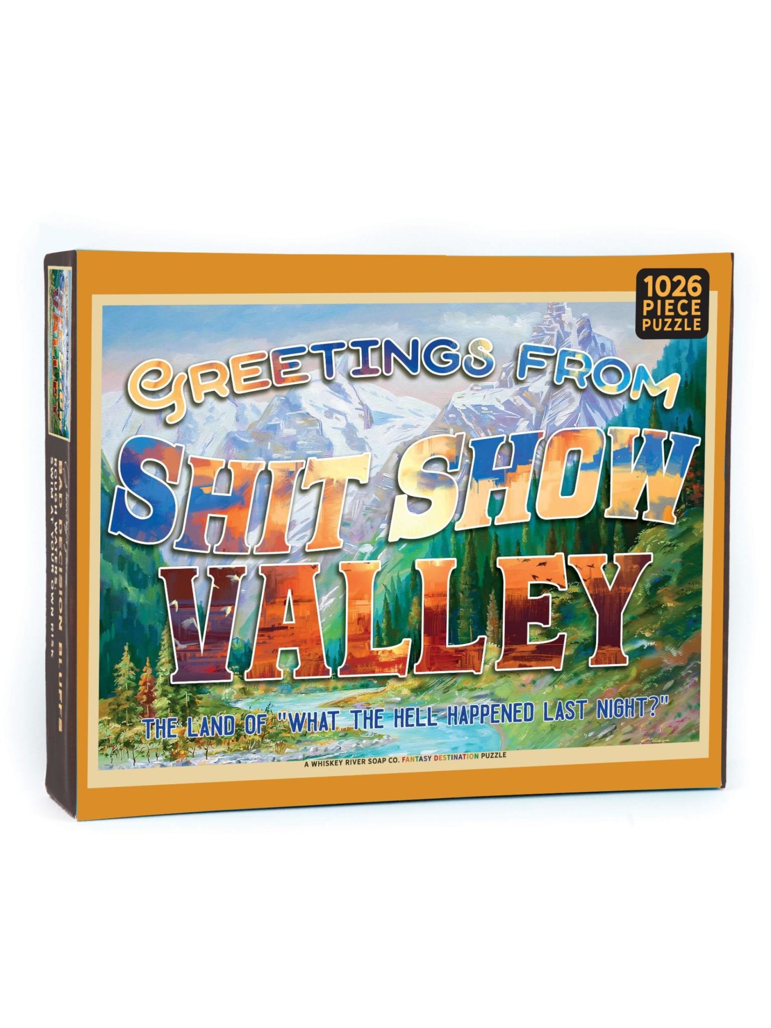 Whiskey River Soap Co. Sh*t Show Valley Puzzle
