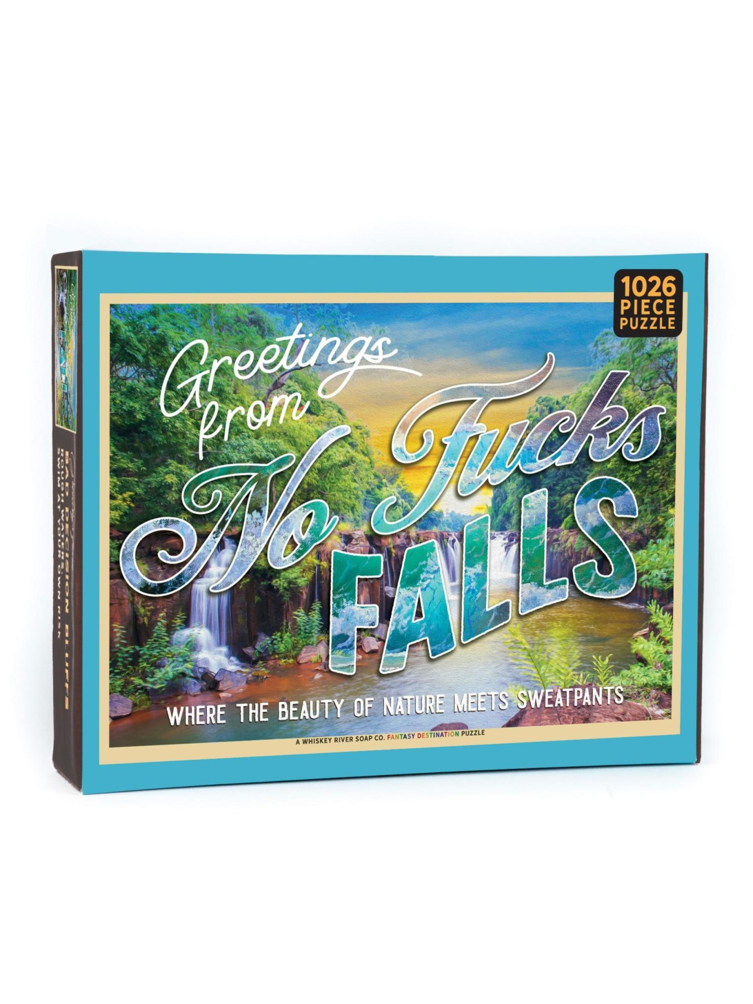 Whiskey River Soap Co. No F*cks Falls Puzzle