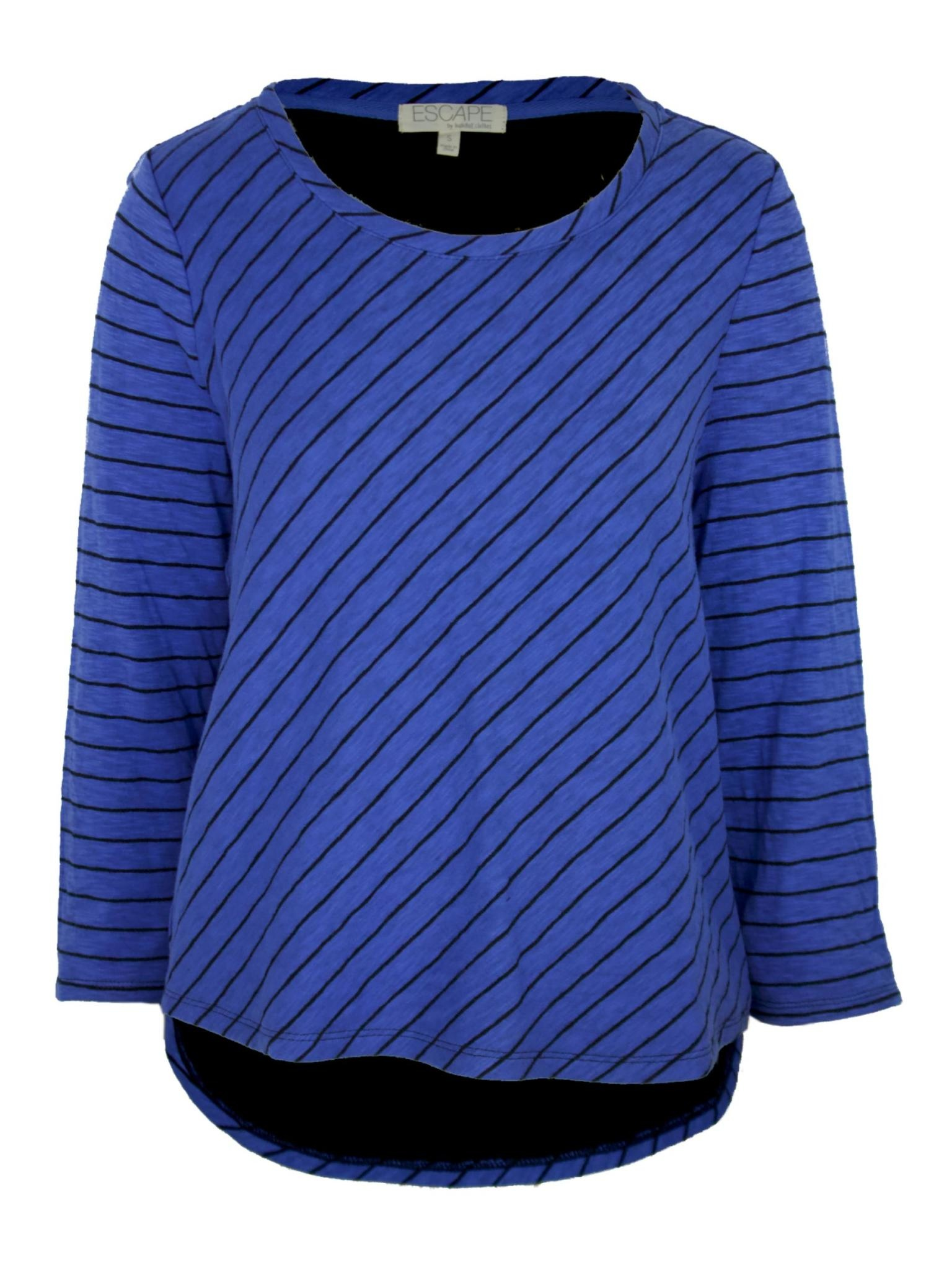 Escape by Habitat Double Face Striped Hi Lo Cropped Tee