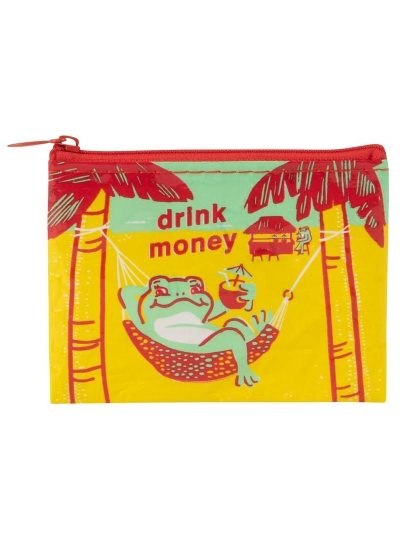 Blue Q Drink Money Coin Purse