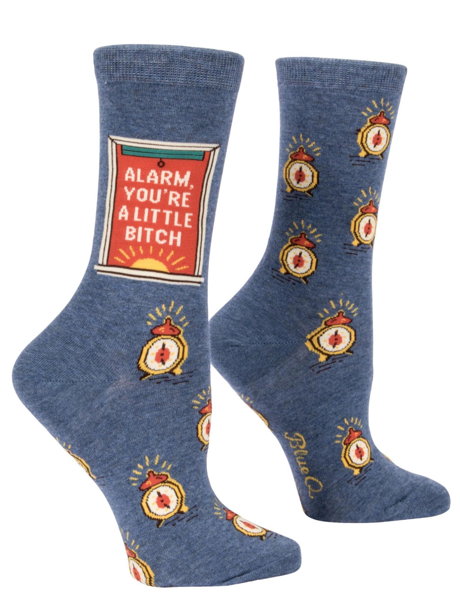 Blue Q Alarm B*tch Women's Crew Socks