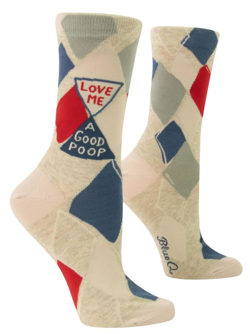 Blue Q Love Me a Good Poop Women's Crew Socks