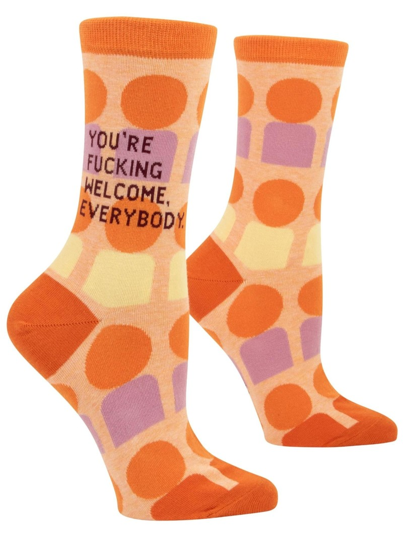 Blue Q You're F*ing Welcome Women's Crew Socks