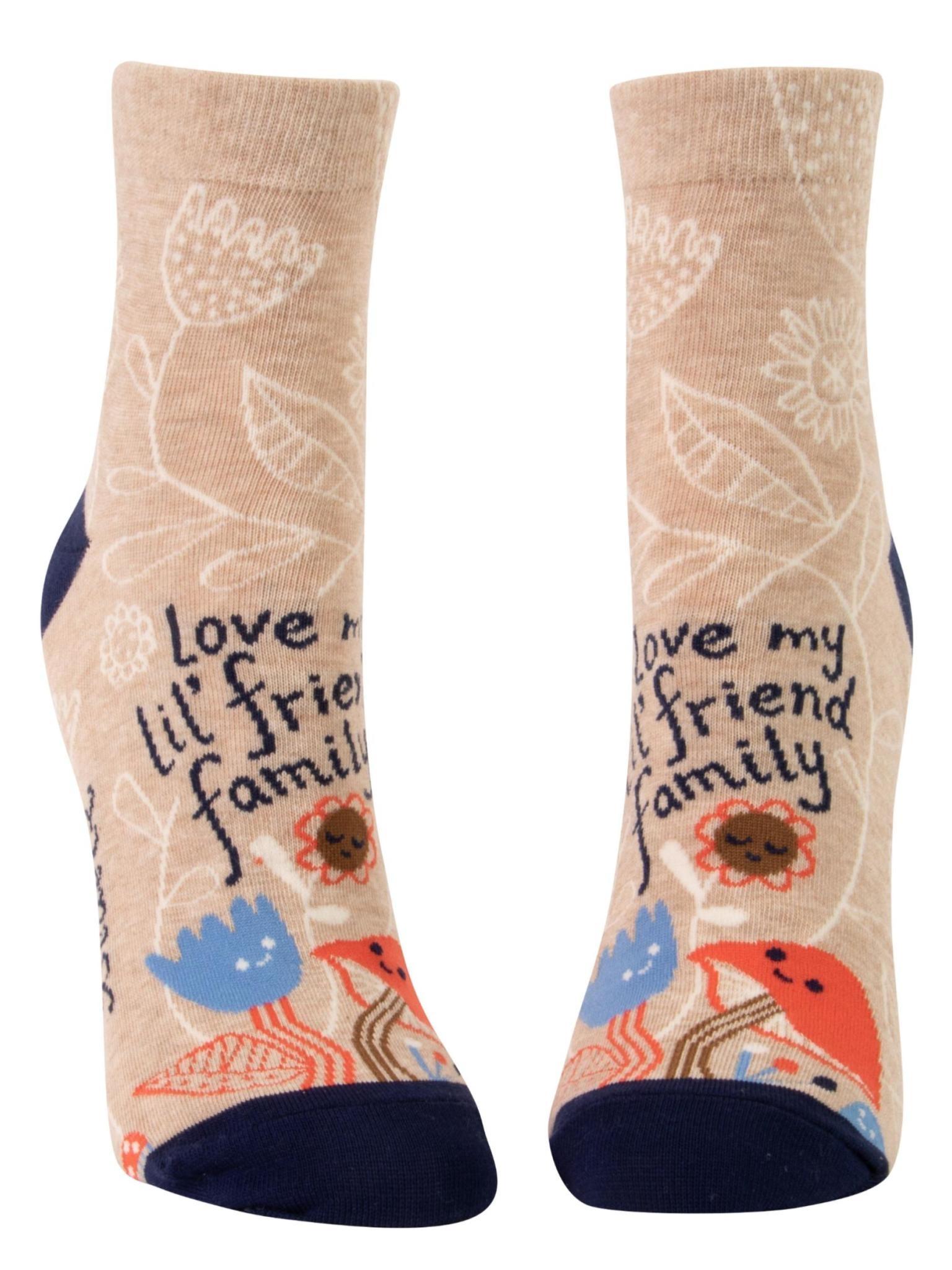 Blue Q Love My Lil' Friend Family Women's Ankle Socks