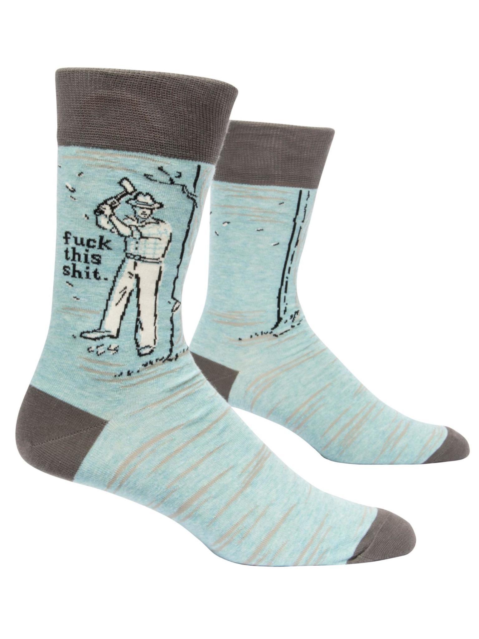 Blue Q F*ck This Sh*t Men's Crew Socks