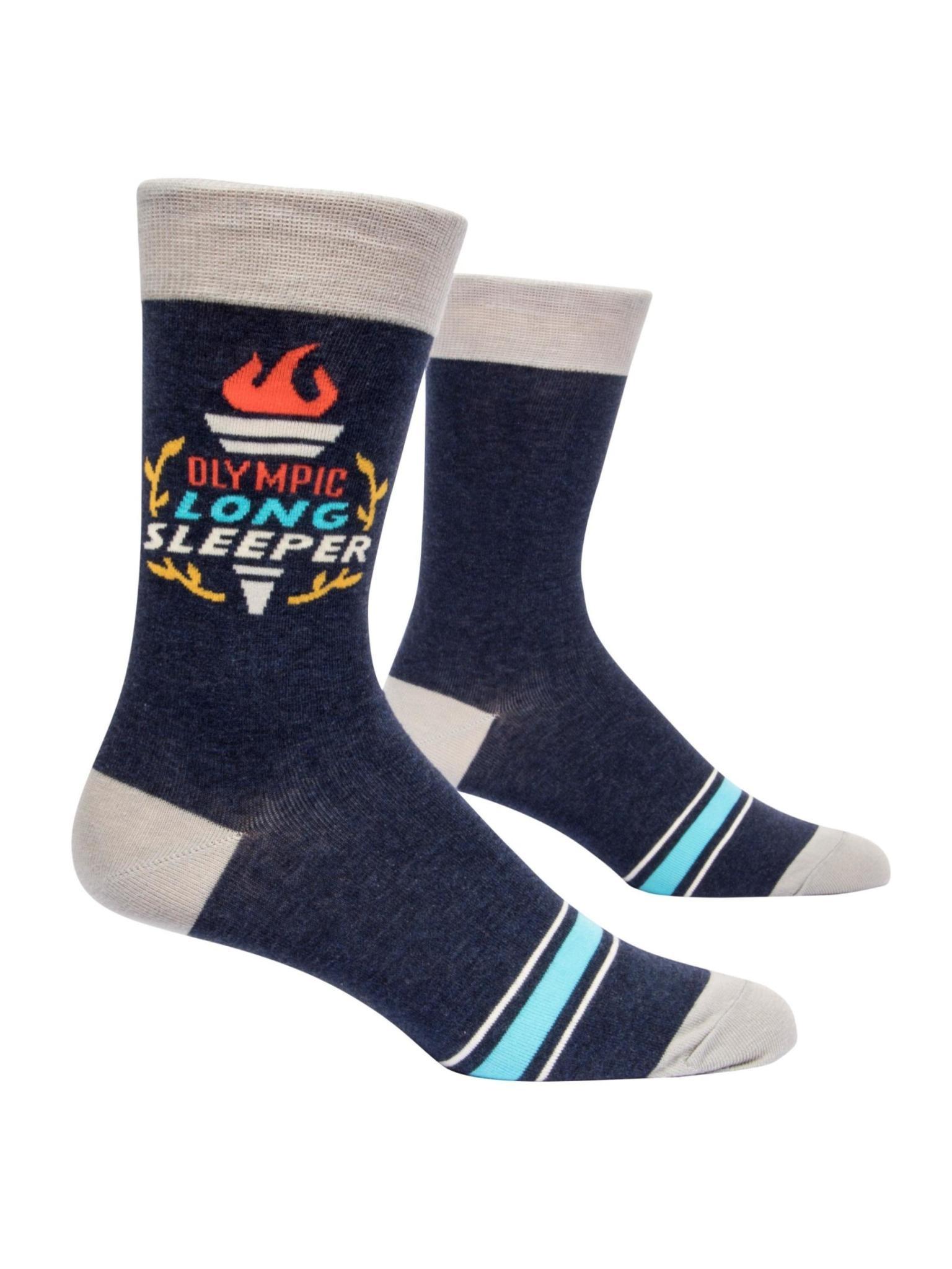 Blue Q Olympic Long Sleeper Men's Crew Socks
